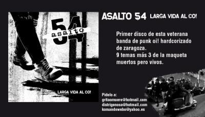 EL CD DE ASALTO 54 YA ESTA A LA VENTA!!!